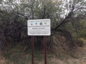 Entry sign to Agua Fria National Monument
